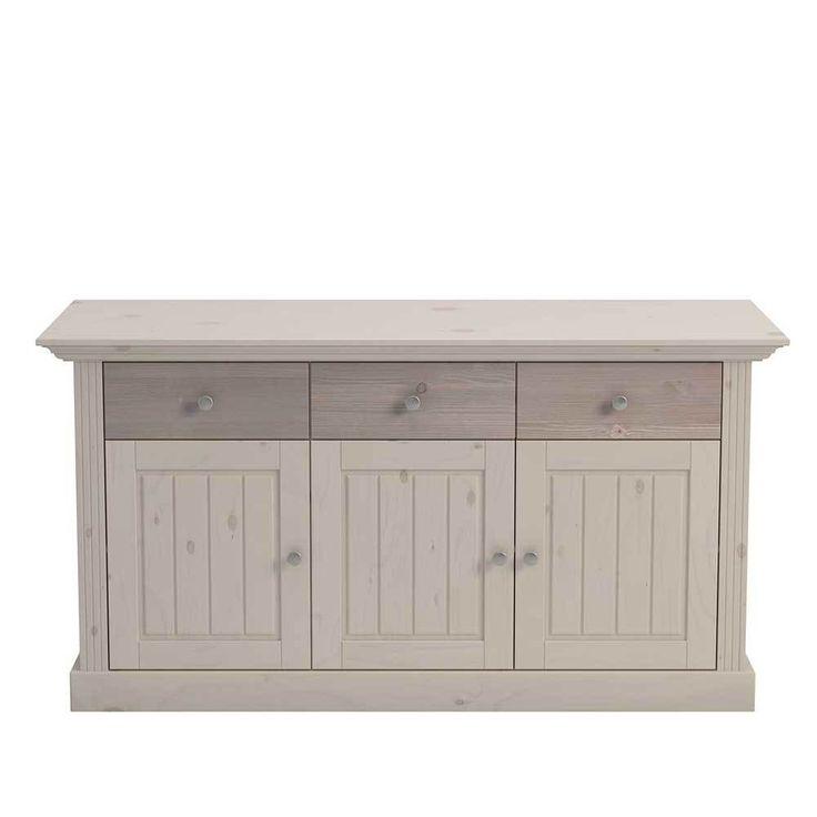 Esszimmer Sideboard Im Landhausstil Kiefer Massiv White Wash Braun Jetzt  Bestellen Unter: Https:/