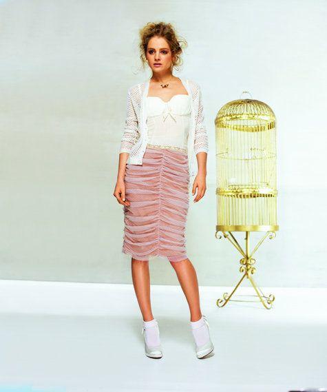 07/2010 Draped knee length skirt #116B