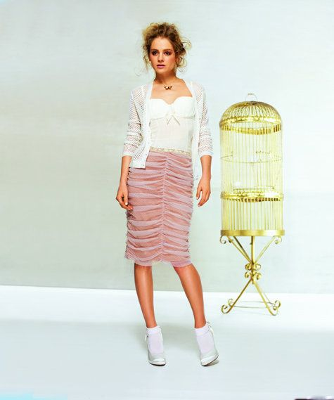 Draped Knee-length skirt, this looks like a copy of a Zac Posen skirt I have just a looser fit.