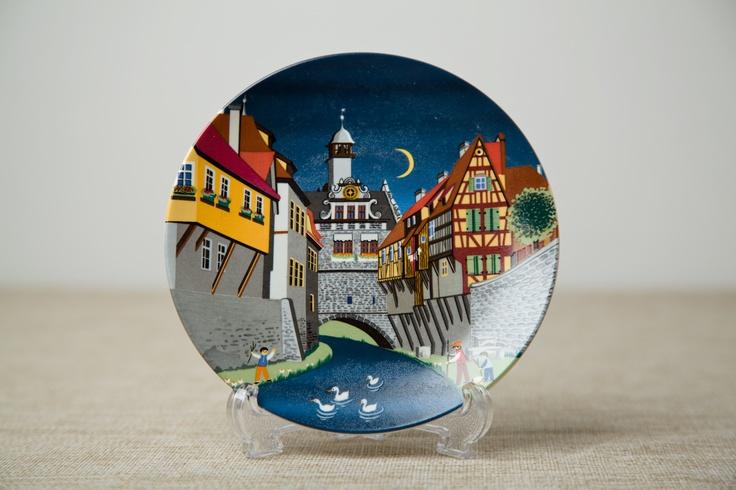 Poole Pottery Plate, 432 Scene II. Circa 1980's. #poolepottery #plate #poole #432 #vintage #retro #midcentury #ceramics #1980s #vintageceramics #tureen #uk #britishvintage