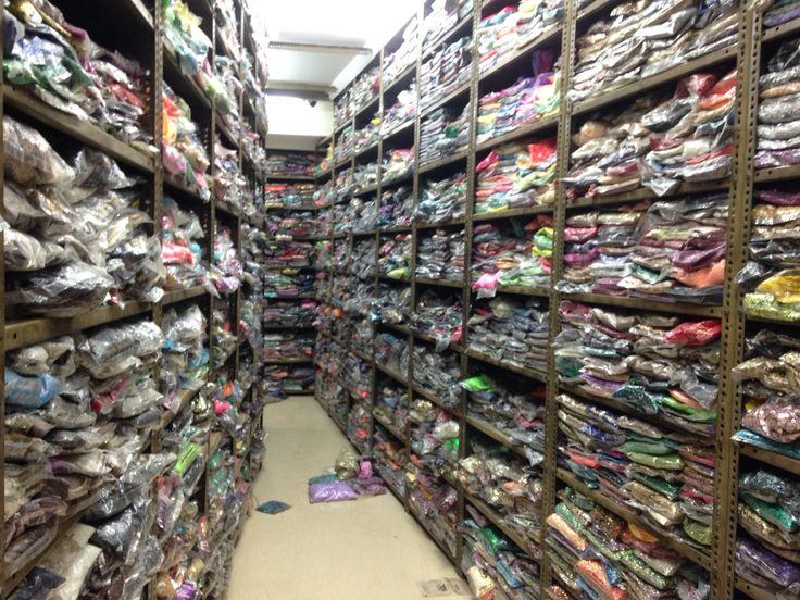 One of Old Delhi's insane sequin shops