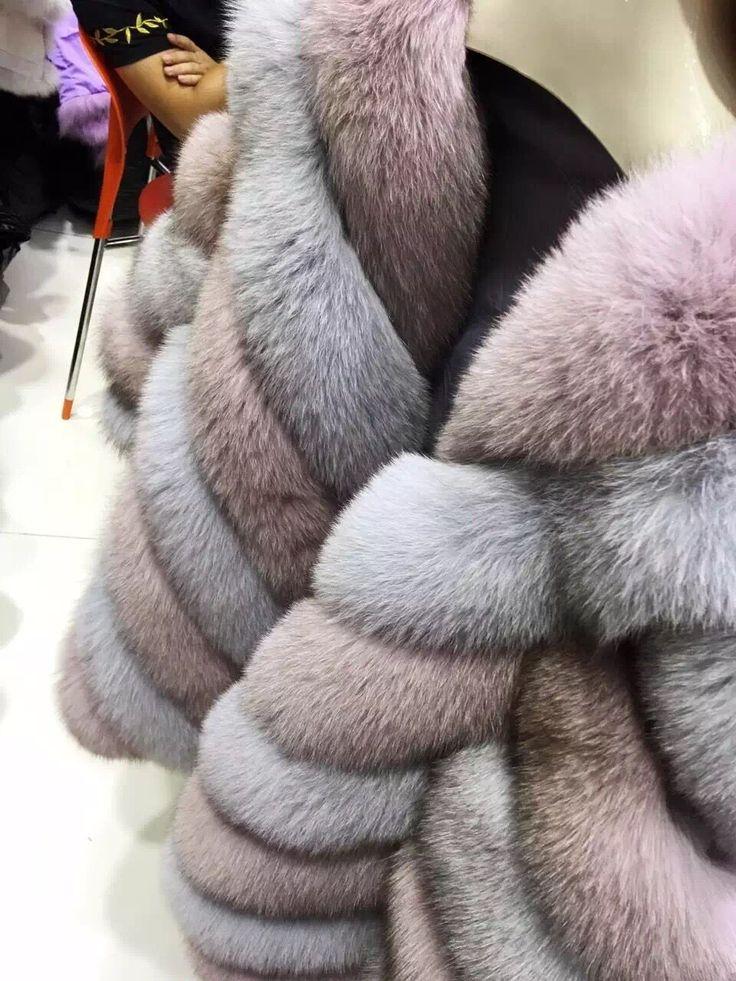 Элегантная мода полосатый подлинная лисий мех густой теплой пальто осень и зима женщин реального шуба куртка купить на AliExpress