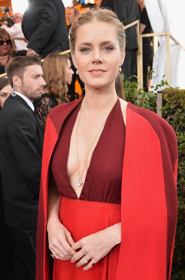 Amy Adams in Valentino Haute Couture on Golden Globes Red Carpet