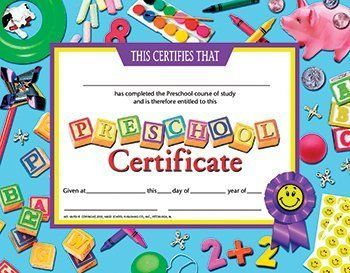 Epic image throughout preschool certificates printable