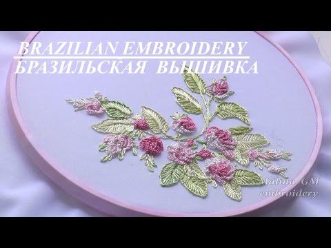 Hand embroidery designs. spider web stitch, closed fly stitch,lazy daisy, satin sttich. - YouTube