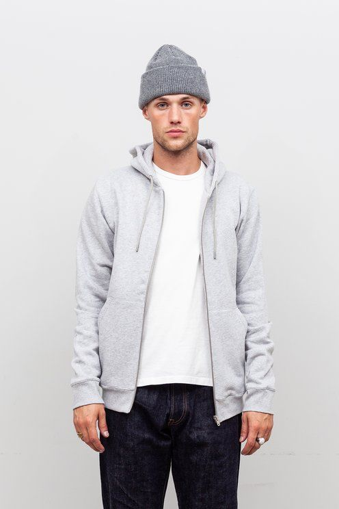 d4be84ef8 Norse Projects - Vagn Zip Hood Light Grey Melange | Things I want ...