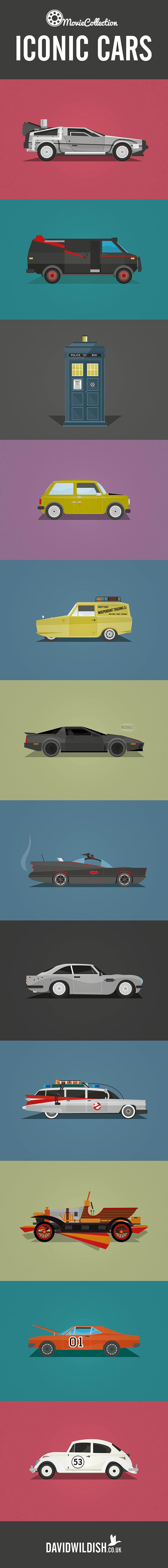 The ultimate collection of iconic #cars from both TV and the movies lovingly illustrated. Hit the pic to see if you can name them all.