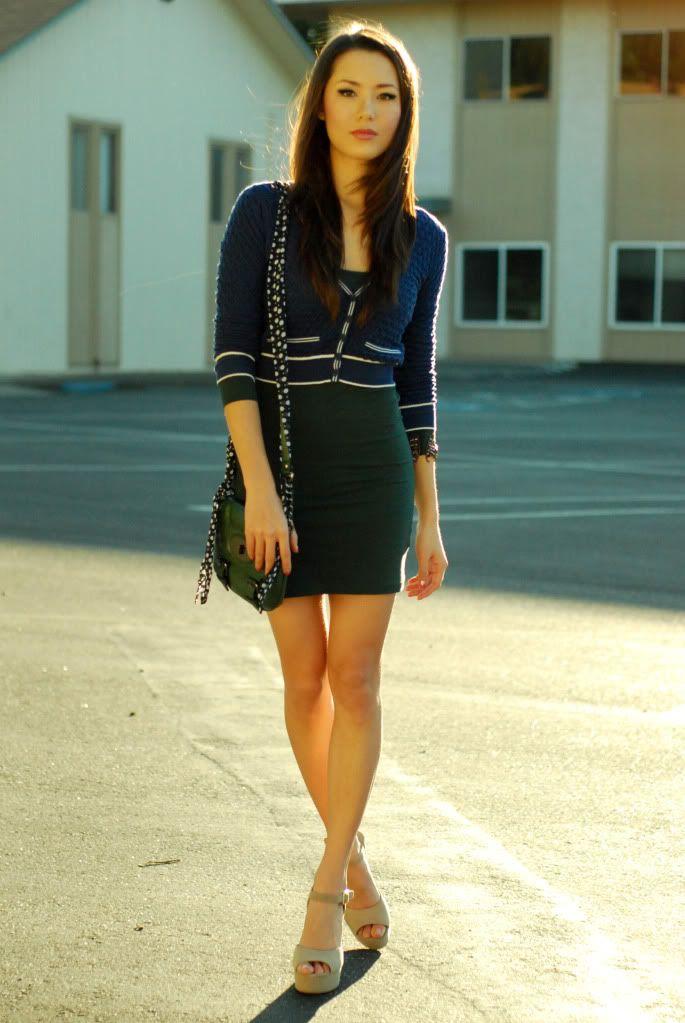 cardigan - Forever 21, dress - Forever 21, shoes - Steve Madden Dynemite, purse - Style, bracelet - Japan