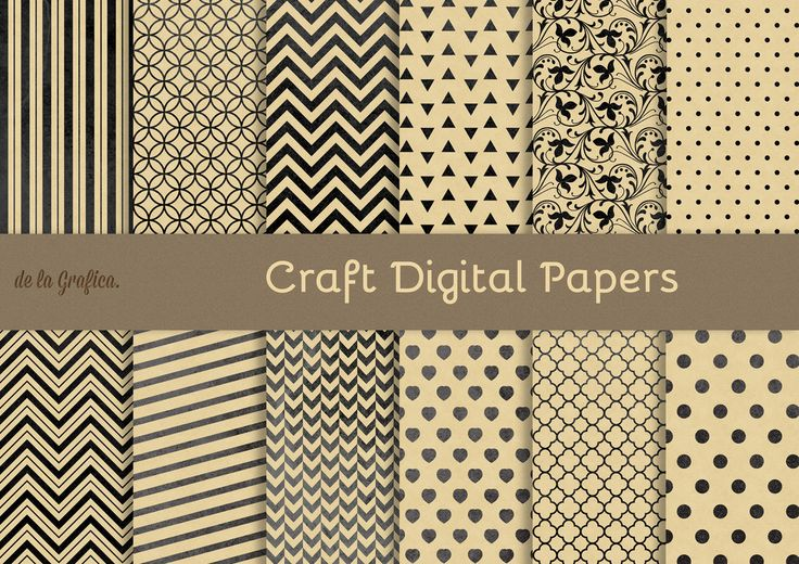 Natural Craft Digital Papers by @delagrafica