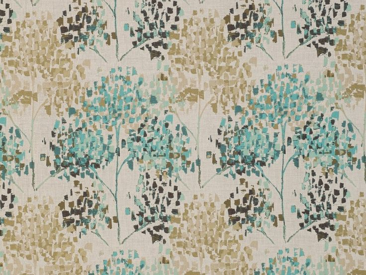 Adrano Teal Fabric - A beautiful textured look created by mimicking an artist's stippling brush strokes, fusing earthy tones with a pop of teal creating a tree-like pattern. Exclusive to Harvey Furnishings in NZ.