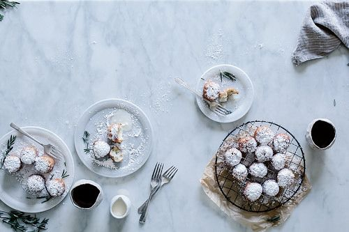 Local Milk | rosemary & LINDOR white chocolate truffle filled beignets