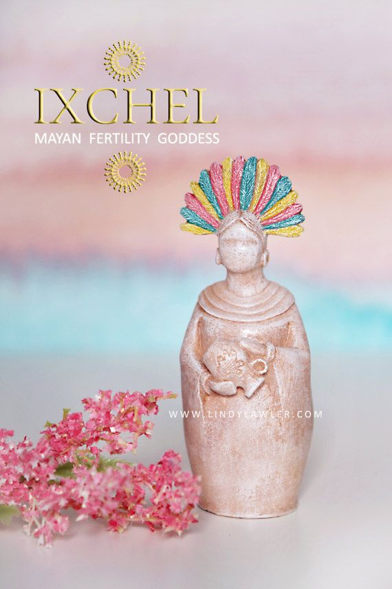 Ixchel - Mayan Aztec Fertility Moon Goddess Statue - Gift for Doula, Midwife By StudioLindy on Etsy