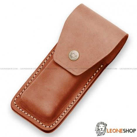 """Sheath for Knives FOX Italy, bags, cases and sheaths in Leather to take with you your folding knife - Lenght 5.5"""" - FOX Italy Leather sheath for knives really exceptional with quality materials, rigid structure of superior quality in all components, with strap closure and belt loop."""