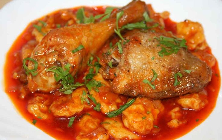 """Paprika chicken with dumplings"" Papricas, pronounced 'papricash', is a dish of Hungarian origin and in Romania it is most popular in the A..."