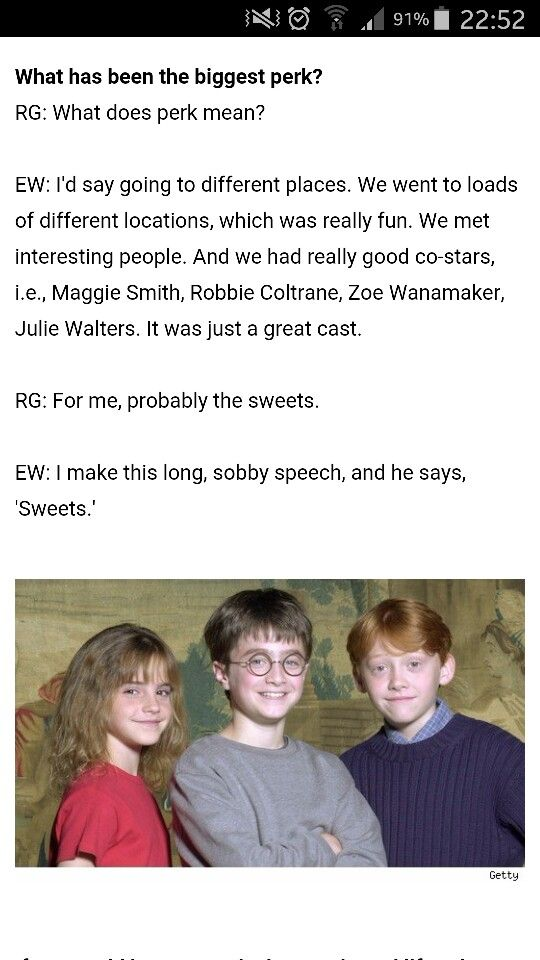 Harry Potter cast interview in 2001. They're just so great! XD
