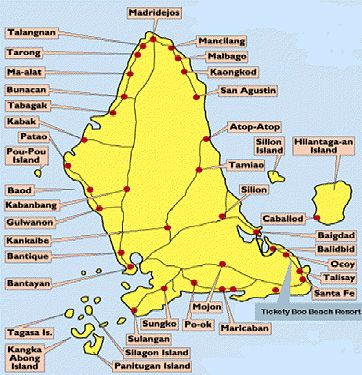 Map of Bantayan Island
