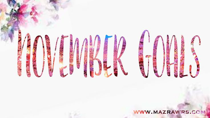 Click through to read all about my goals for the month of November!