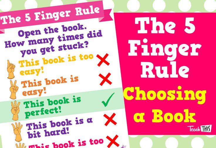 The 5 Finger Rule - Choosing a Book