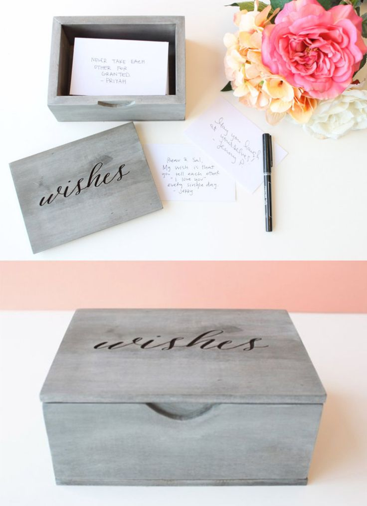 Handmade personalized wedding wish guestbook See more here: https://www.hostandtoast.net/product/235/personalized-wedding-wishes-box-guestbook-handmade-heirloom-quality-solid-wood-advice-box