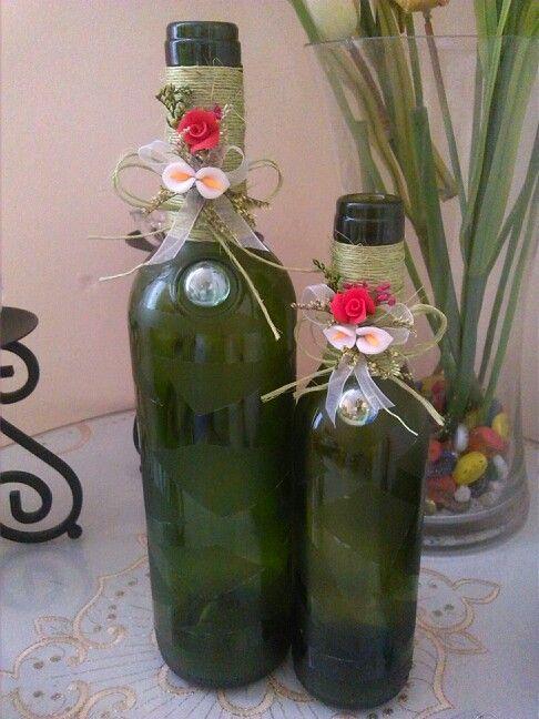 Botellas de vino decoradas ideas bonitas pinterest - Botellas de vino decoradas ...
