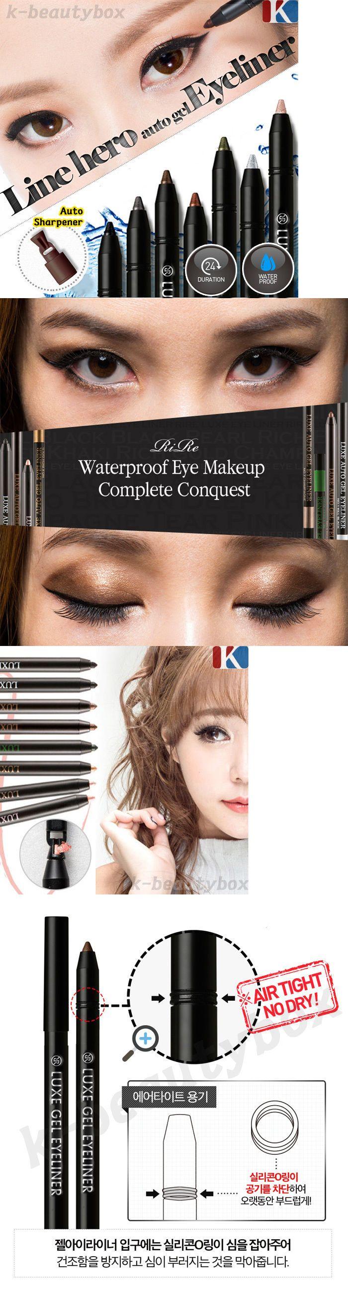 Eye Shadow Liner Combination: Gel Eyeliner 10 Color Rire Luxe Auto Eyeliner Pencil Waterpoof Korean Cosmetics -> BUY IT NOW ONLY: $43.23 on eBay!