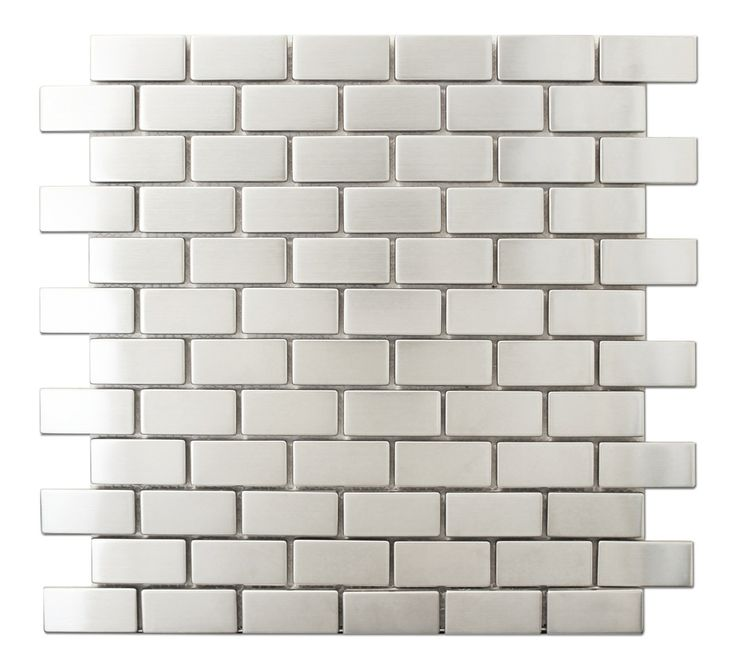 Discount Glass Tile Store   Stainless Steel Metal Collection   1x2, $9.88  (http: