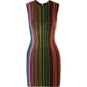 Balmain Beaded mesh mini dress