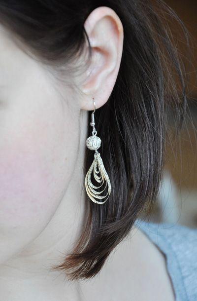 Boucles d'oreille en papier, Création Bijoux fantaisie