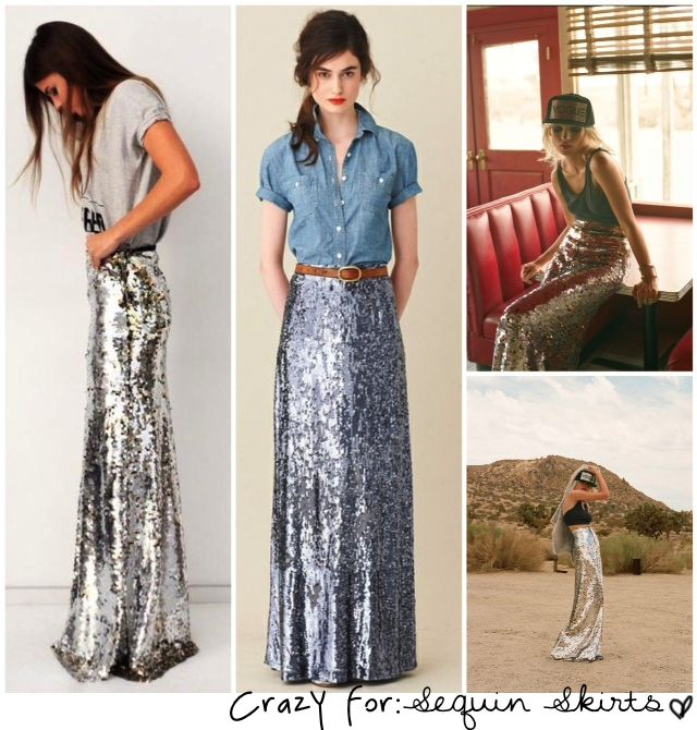 sequin maxi skirts + where to find them #holidays #sequins #sparkle
