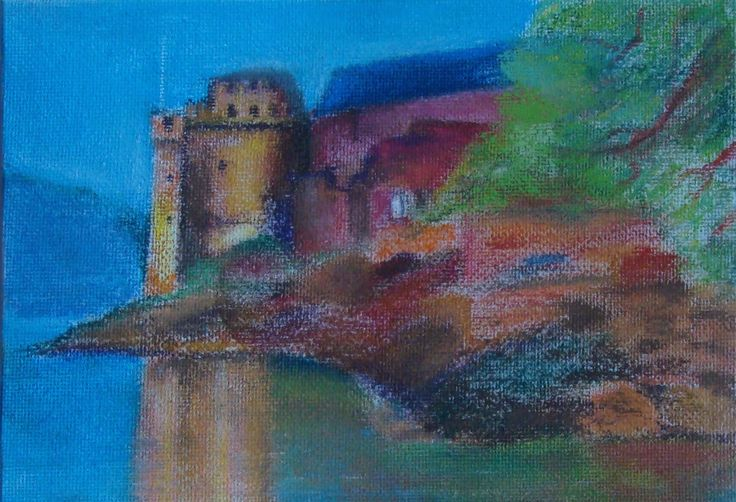 Dartmouth Castle in pastels