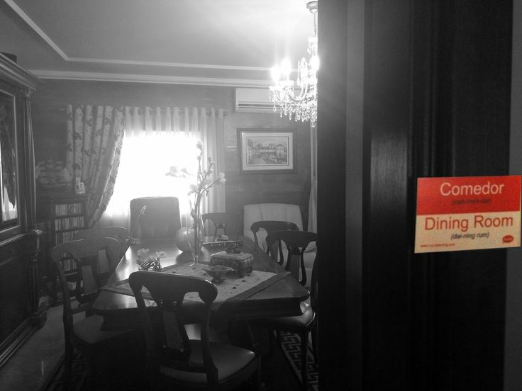 Comedor en Inglés = Dining Room in Spanish