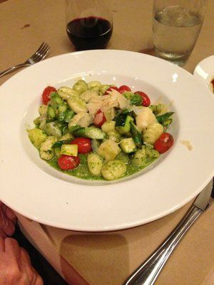 House made gnocchi with summer vegetables
