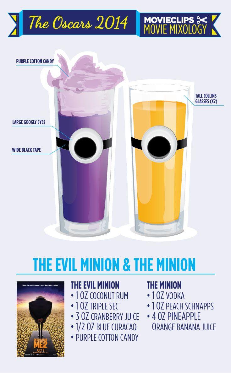 Movie Mixology: Oscar Edition - Minion Cocktails