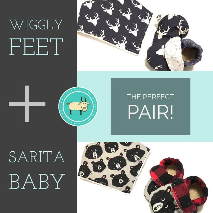 """""""You can always find a perfect match when it comes to these two vendors @saritababy and @wiggly_feet…"""""""