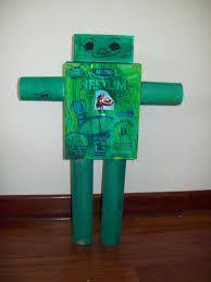 Resultado de imagen para robot con materiales reciclados