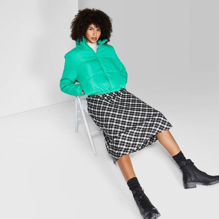 Women's Long Sleeve Zip-Up Puffer Jacket - Wild Fable? # ...