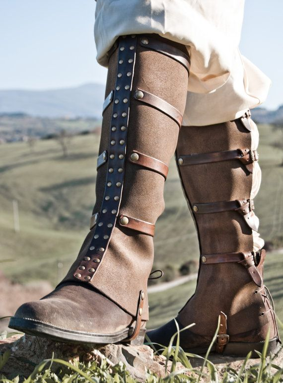 """steampunk boot gaiters"" I definitely need to design and make Erik some gaiters. -CAB"