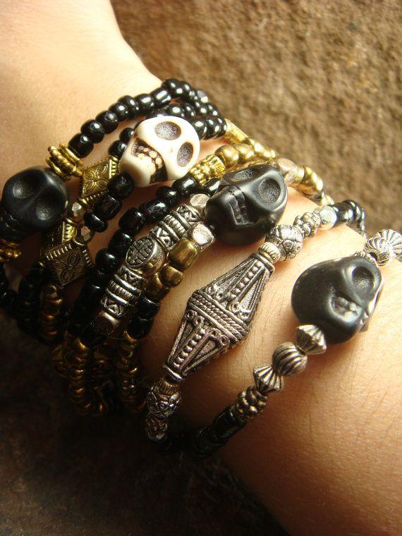 Sugar Skull Bracelet Sugar Skull Jewelry Skull by ShopSparrow, $12.99  #ShopSPARROW  ShopSPARROW