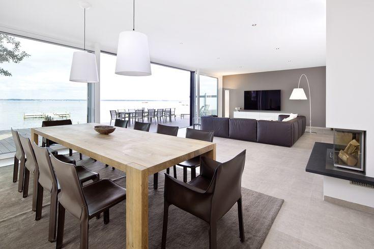 Spectacular K che Ess und Wohnbereich sind offen gestaltet und L f rmig miteinander verbunden