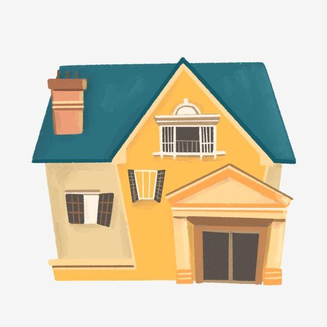 الأصفر البيت الأصفر البناية رسم كاريكتوري تصوير البيت تصوير البناية تصوير البيت تصوير الإسكان Illu Building Illustration Building A House Building