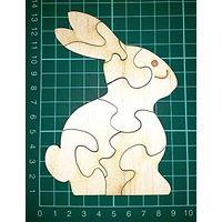 Wooden Bunny 8 piece Puzzle