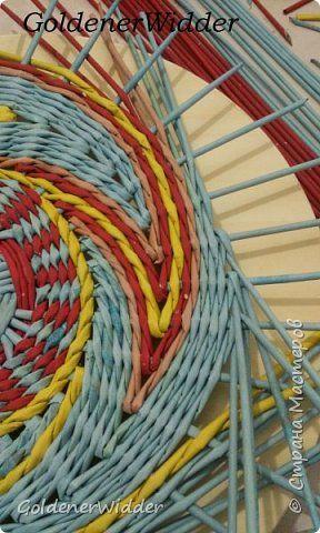 Педагогический опыт 8 марта Плетение Плетёные панно где для их исполнения не нужно ни чего как только крашенные газетные трубочки Бумага газетная Трубочки бумажные фото 7