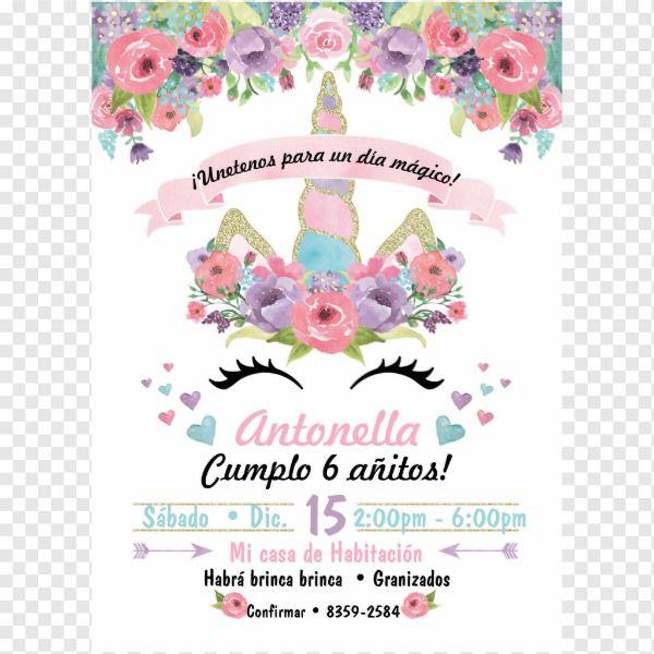 Invitación Del Cumpleaños Del Unicornio Zazzle Es