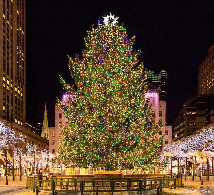 2017 Rockefeller Center Christmas Tree by Rommel Tan @rtanphoto by newyorkcityfeelings.com - The Best Photos and Videos of New York City including the Statue of Liberty Brooklyn Bridge Central Park Empire State Building Chrysler Building and other popular New York places and attractions.