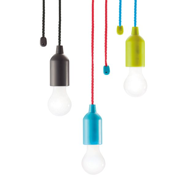 Light up your room, garage or camping spot with this 1W white LED Pull lamp. Hang it anywhere you want and with one simple pull the LED can be switched on or off.