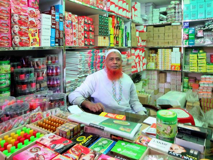 This sundries merchant keeps a neat little shop off Water Works Road in Dhaka, Bangladesh.