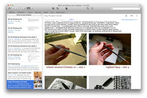 Matt Madden uses Evernote to Organize, Edit, and Aggregate for Comic Creation and Teaching