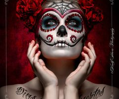 Maquillaje calavera dulce mejicana: Halloween Costume, Halloween Idea, Halloween Makeup, Sugar Skulls Makeup, Of The, Mexicans Skulls, Dead, Day, Makeup Idea