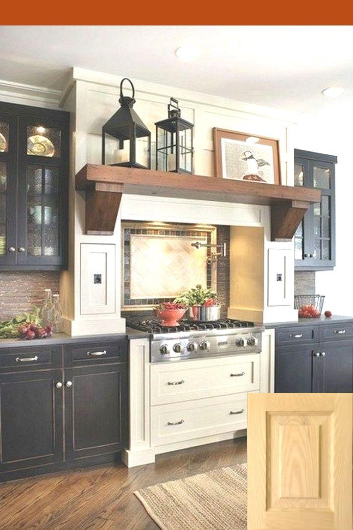 rustic farmhouse decor above kitchen cabinets | kitchen interior in