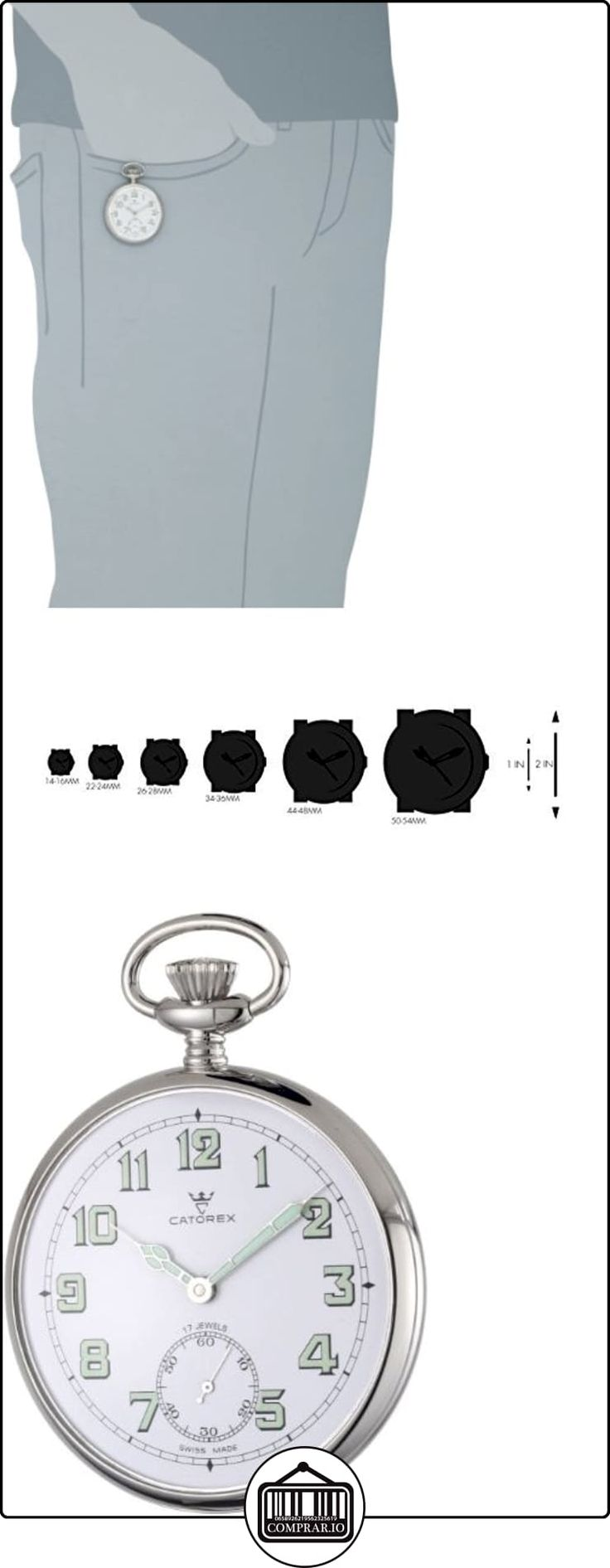 Catorex Reloj de caballero 170.1.1810.121 La Pautele Palladium Esfera Blanca Reloj de bolsillo  ✿ Relojes para hombre - (Lujo) ✿